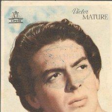 Foglietti di film di film antichi di cinema: PROGRAMA DE CINE - HACE UN MILLÓN DE AÑOS - VICTOR MATURE - CIFESA - 1940.. Lote 161615742