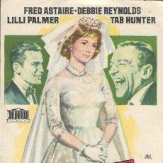 Cine: PROGRAMA DE CINE - SU GRATA COMPAÑÍA - FRED ASTAIRE, DEBBIE REYNOLDS - PARAMOUNT - 1961 - S/P.. Lote 161616134