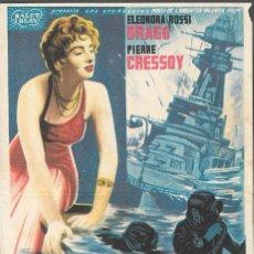 Cine: PROGRAMA DE CINE - ALARMA EN LA FLOTA - ELEONORA ROSSI DRAGO, PIERRE CRESSOY - 1953- SIN PUBLICIDAD.. Lote 161619370