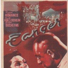 Cine: TANGER - CINE TEATRO CARMEN - PALAMÓS. Lote 161707434