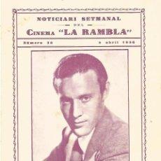 Cine: JULIO PEÑA PELICULA ROSA DE FRANCIA TRIPTICO CINE LA RAMBLA TARRASA 1936. Lote 161748890