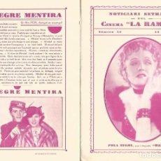 Cine: DOBLE POLA NEGRI INTERPRETA MAZURKA DE WILLY FORST CINE LA RAMBLA 1936. Lote 161753238