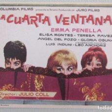 Cine: PROGRAMA FOLLETO MANO CINE. LA CUARTA VENTANA. ORIGINAL. EMMA PENELLA. ELISA MONTES.. Lote 161833590