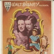 Folhetos de mão de filmes antigos de cinema: PROGRAMA CINE CANCION DEL SUR WALT DISNEY. Lote 161891706