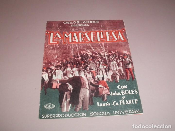 LA MARSELLESA - AÑOS 30 - DOBLE (Cine - Folletos de Mano - Musicales)