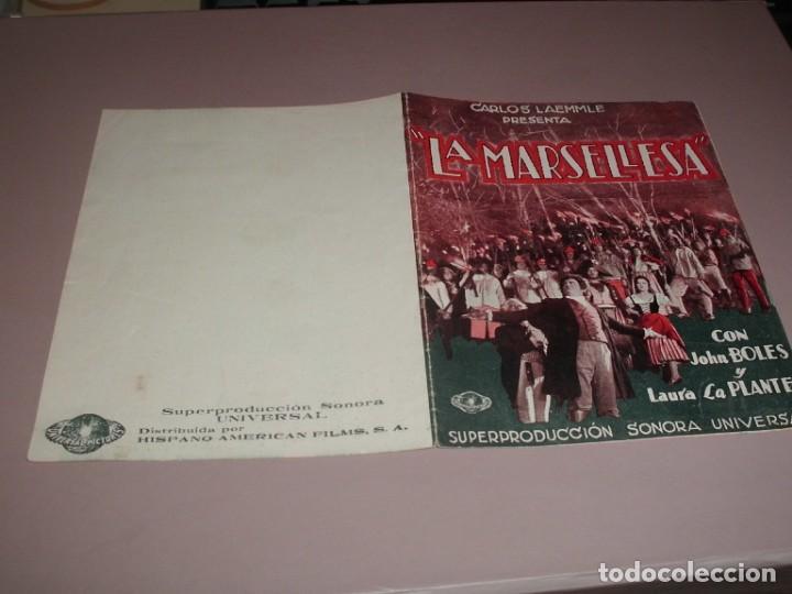 Cine: LA MARSELLESA - AÑOS 30 - DOBLE - Foto 3 - 161894846