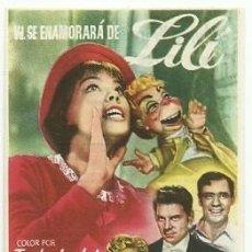 Cine: PROGRAMA CINE VD SE ENAMORARA DE LILI. Lote 161909238