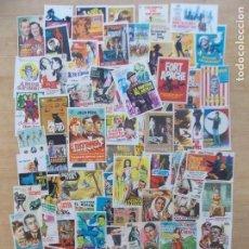Cine: LOTE 74 FOLLETOS, FOLLETO, PROGRAMA CINE, AÑOS 60-70, DIFERENTES Y ORIGINALES, VER 11 FOTOS... A1541. Lote 172954477