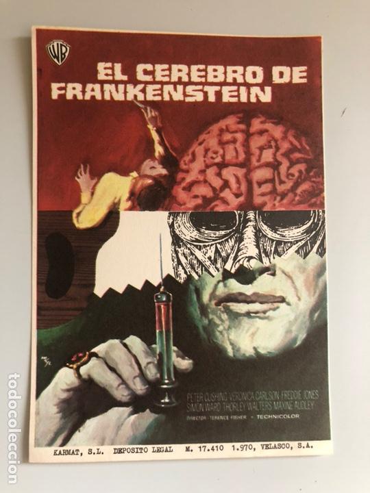 PROGRAMA EL CEREBRO DE FRANKENSTEIN PETER CUSHING (Cine - Folletos de Mano - Terror)