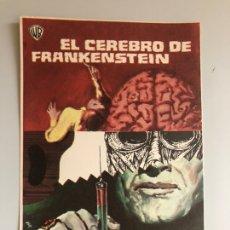 Cine: PROGRAMA EL CEREBRO DE FRANKENSTEIN PETER CUSHING. Lote 162038437