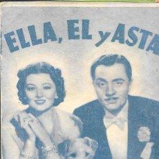 Cine: PROGRAMA DOBLE - ELLA, ÉL Y ASTA - MYRNA LOY, WILLIAM POWELL - MGM - PRINCIPAL CINEMA (VELEZ-MÁLAGA). Lote 162134654