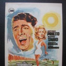Foglietti di film di film antichi di cinema: CUANDO CALIENTA EL SOL, ANTONIO PRIETO. Lote 162337902