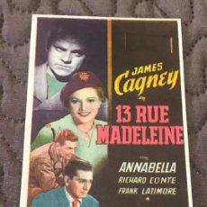 Cinema - 13 Rue Madeleine - Programa de cine C/P - 162351238