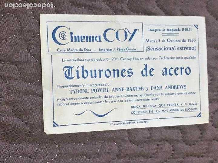 Cine: Tiburones de acero - Folleto de mano original Soligo - Fox 2ª guerra mundial con publi - Foto 2 - 162364330