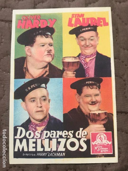 DOS PARES DE MELLIZOS. SENCILLO DE MGM.SIN PUBLI (Cine - Folletos de Mano - Comedia)