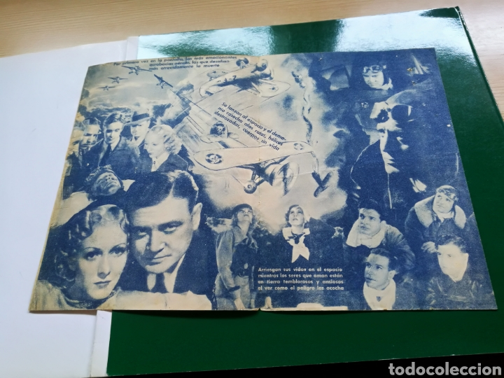 Cine: Programa de cine doble. Escudrilla infernal. Años 30. Cine España - Foto 2 - 162584617