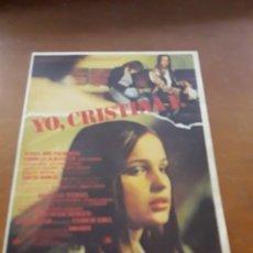 Cine: PROGRAMA DE MANO PELICULA YO, CRISTINA F.. Lote 162765613