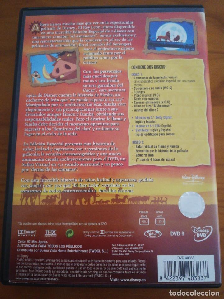 Cine: DVD el rey león ed,. Especial 2 discos - Foto 3 - 197297296