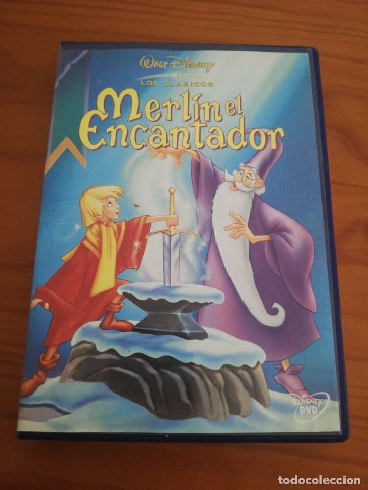 DVD MERLIN EL ENCANTADOR DE DISNEY (Cine - Folletos de Mano - Infantil)