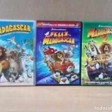 Cine: LOTE DE 3 DVD DE LA SAGA MADAGASCAR. Lote 162794130