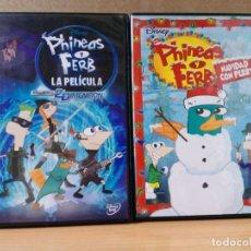 Cine: LOTE 2 DVD DE FHINEAS Y FERB. Lote 162803046