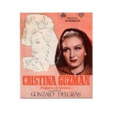 Cine: FOLLETO DE MANO CRISTINA GUZMAN.- CIFESA.TEATRO PRINCPAL. REINOSA. ANTONIO CASAL.. Lote 184614482