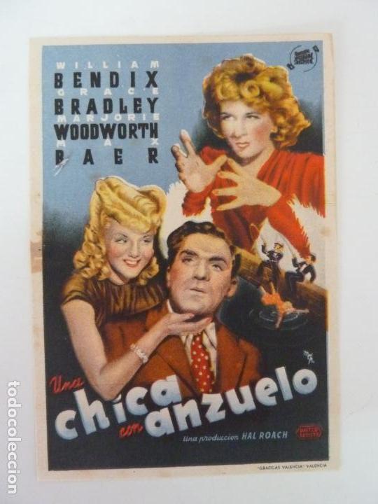 PROGRAMA. UNA CHICA CON ANZUELO. WILLIAM BENDIX. S/P (Cine - Folletos de Mano - Comedia)