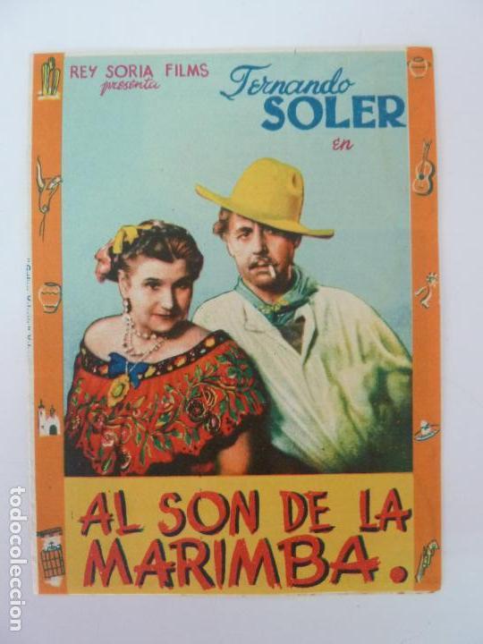 PROGRAMA DOBLE. AL SON DE LA MARIMBA. SELLO CINE (Cine - Folletos de Mano - Musicales)