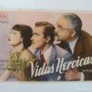 Cine: PROGRAMA. VIDAS HEROICAS. S/P. Lote 163020654