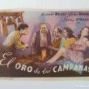 Cine: PROGRAMA. EL ORO DE LAS CAMPANAS. S/P. Lote 163023518
