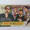 Cine: PROGRAMA. EL MÉDICO DE LAS LOCAS. SELLO CINE. Lote 163027218