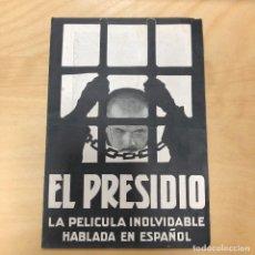 Cine: ANTIGUO PROGRAMA DE CINE TROQUELADO DOBLE, EL PRESIDIO. TEATRO FORTUNY REUS. 1931.. Lote 163093974
