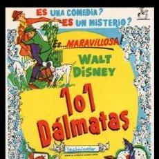 Cine: CINE, FOLLETO DE MANO, 101 DALMATAS.. Lote 163176354