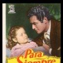 Cine: CINE, FOLLETO DE MANO, PARA SIEMPRE, JORGE MISTRAL.. Lote 163185350
