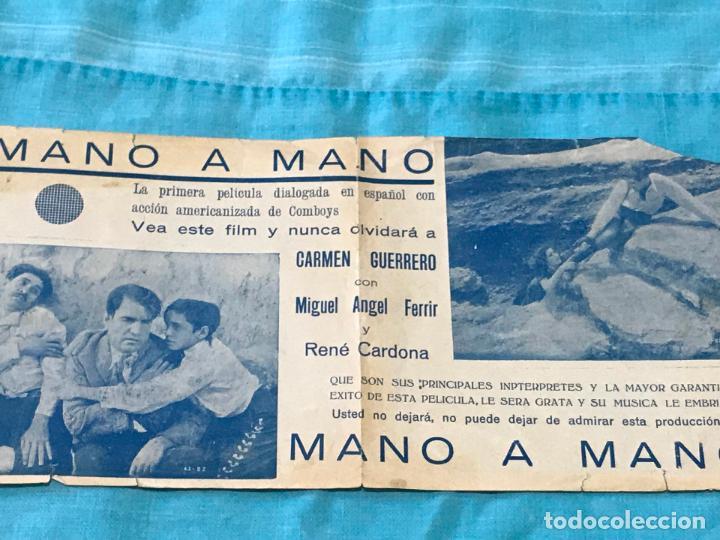 PROGRAMA DE CINE DOBLE. MANO A MANO. AÑOS 30 (Cine - Folletos de Mano - Westerns)