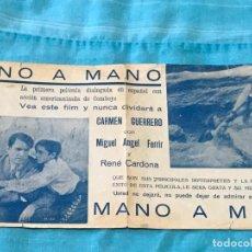 Cine: PROGRAMA DE CINE DOBLE. MANO A MANO. AÑOS 30. Lote 163481586