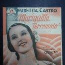 Cine: MARIQUILLA TERREMOTO 1938 ESTRELLITA CASTRO DOBLE CIFESA SELLO ANTERIOR PROPIETARIO EN BUEN ESTADO . Lote 163482446