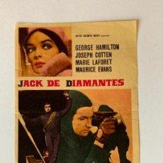 Cine: FOLLETO DE CINE JACK DE DIAMANTES. SIN PUBLICIDAD.. Lote 163502634