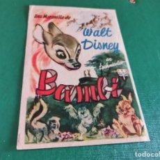 Cine: PROGRAMA DE MANO ORIG - BAMBI - CINE DE FIGUERAS. Lote 163564278
