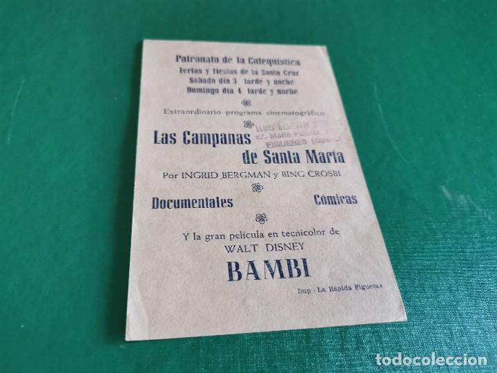 Cine: PROGRAMA DE MANO ORIG - BAMBI - CINE DE FIGUERAS - Foto 2 - 163564278