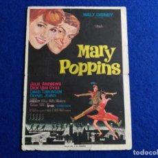 Cine: PROGRAMA DE MANO DE LA PELICULA: MARY POPPINS. WALTS DISNEY. JULIE ANDREWS. CINE MARIOLA. CARTAGENA. Lote 163575218