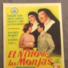 Foglietti di film di film antichi di cinema: FOLLETO DE MANO EL NIÑO DE LAS MONJAS. SIN PUBLICIDAD . Lote 163583918