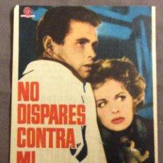 Foglietti di film di film antichi di cinema: FOLLETO DE MANO NO DISPARES CONTRA MI. PUBLICIDAD CINE ALCAZAR. Lote 163585822