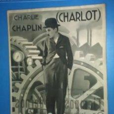 Cine: TIEMPOS MODERNOS, CHARLE CHAPLIN. AÑO 1936. DISTRIBUIDA POR LOS ARTISTAS ASOCIADOS, S.A. . Lote 163703370