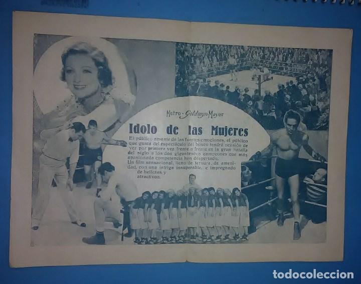Cine: IDOLO DE LAS MUJERES PROGRAMA DOBLE MGM MYRNA LOY MAX BAER PRIMO CARNERA JACK DEMPSEY - Foto 3 - 163703942