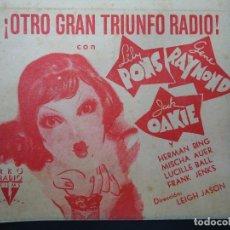 Cine: EL MUNDO A SUS PIES 1941 LILI PONS RKO DOBLE BIEN CONSERVADO (ALGUNAS MANCHILLAS) VER FOTOS. Lote 163747090
