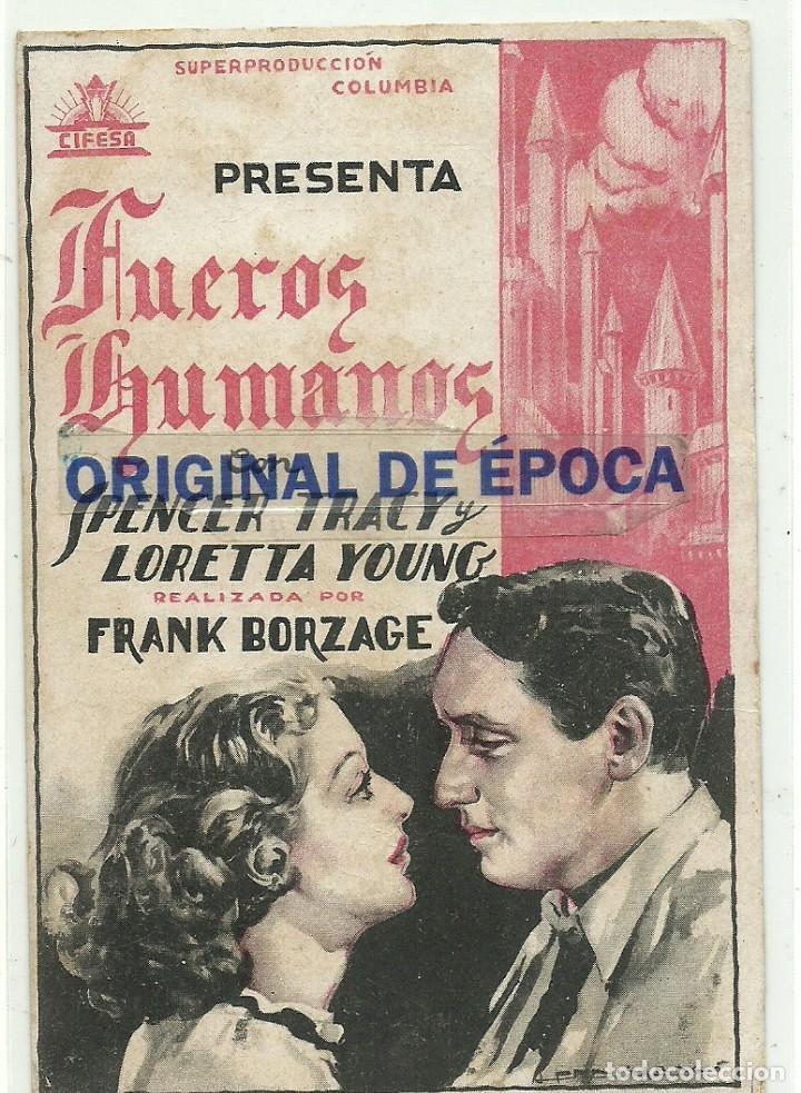 (PG-190463)PROGRAMA DE CINE FUEROS HUMANOS - CINE NOU - AÑO 1934 (Cine - Folletos de Mano - Comedia)