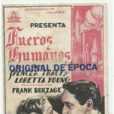 Cine: (PG-190463)PROGRAMA DE CINE FUEROS HUMANOS - CINE NOU - AÑO 1934. Lote 163758630