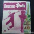 Cine: UN AMERICANO EN PARIS 1951 TROQUELADO PUBLICIDAD COLISEO PIE GRÁFICAS VASCONIA DOBLE TROQUELADO . Lote 163771918