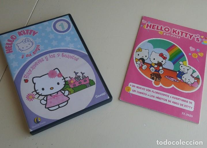 HELLO KITY. 2 DVD'S: HELLO KITTY'S PARADISE /HELLO KITTY Y SUS AMIGOS: BLANCANIEVES Y LOS 7 ENANITOS (Cine - Folletos de Mano - Infantil)